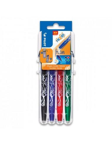 Lot de 4 stylos roller effaçables -...